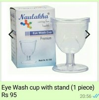 Eye wash with cup stand