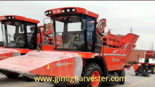 4 rows maize harvester