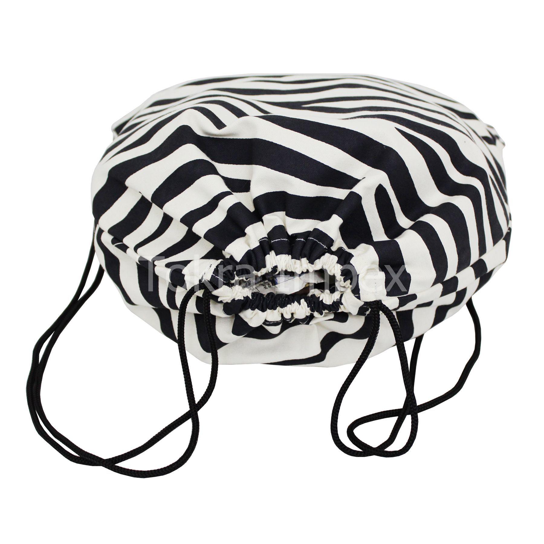 Animal Texture Print Canvas Drawstring Bags