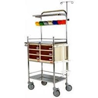 Stainless Steel Emergency Crash Cart