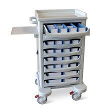 Hospital Drug Trolley With Medicine Box Dimension(L*W*H): L : 750 Mm X W : 380 Mm X H : 930 Mm Millimeter (Mm)
