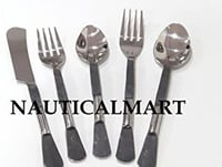 Stainless Flatware Cutlery Set, Eating Utensils for Kitchen Hotel Restaurant Party, Medieval Utensil Design & Mirror Finished - Dishwasher Safe