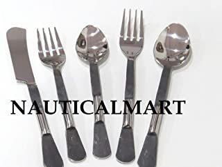 Stainless Flatware Cutlery Set, Eating Utensils for Kitchen Hotel Restaurant Party, Medieval Utensil Design & Mirror Finished - Dishwasher Safe