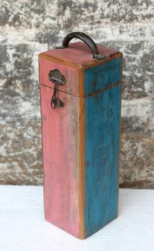 Rustic single wine box