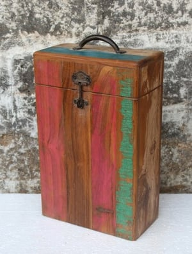 Rustic double wine box