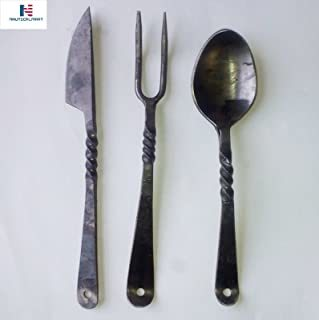 NAUTICALMART Hand Forged Medieval Cutlery Re-Enactment LARP