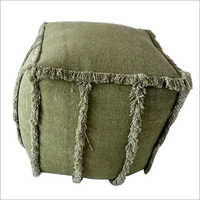 Living Room Knitted Wool Pouf