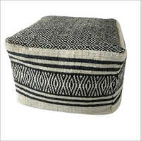 Knitted Wool Pouf