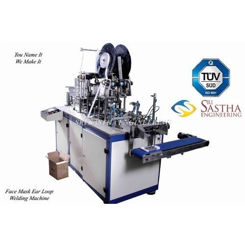 Fully Automatic Ultrasonic Welding Tamil Nadu Face Mask Making Machine