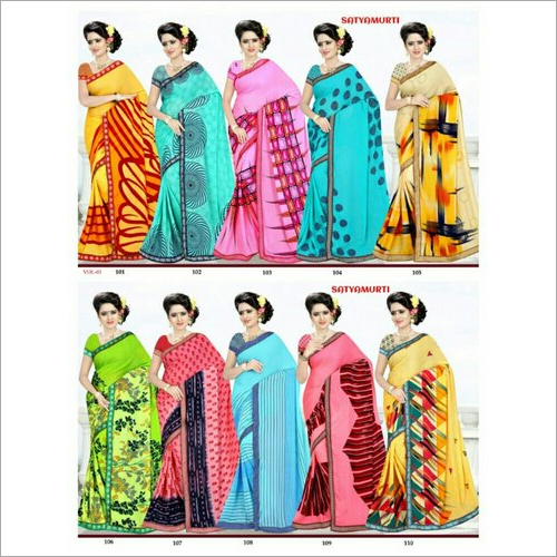 Ladies Printed Georgette Saree