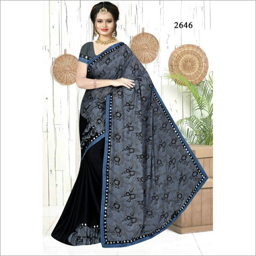Ladies Unstitched Printed Saree