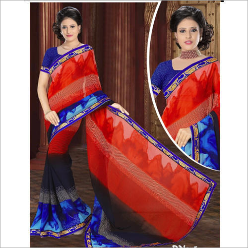Ladies Designer Print Saree