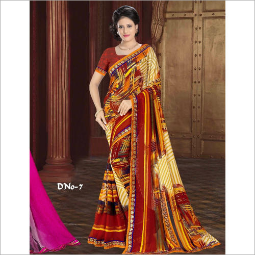 Ladies Chiffon Printed Saree