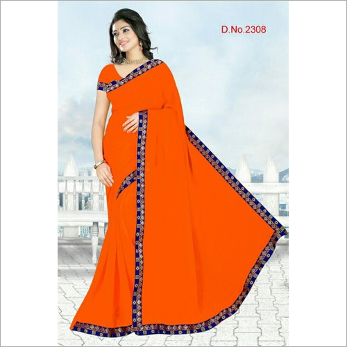 Ladies Chiffon Border Saree