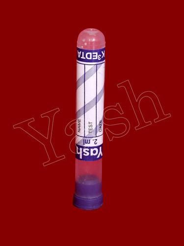 YASH K2/K3 EDTA Tube With Rubber Cap