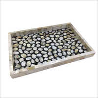Mop Tray With Stone Work