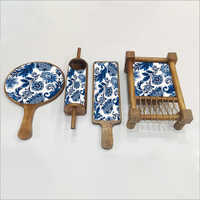 Authentic India Wooden Showpiece Set MOP