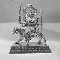 White Metal Durga Statue