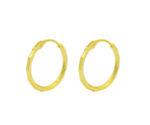 Gold plated Hoops Earrings