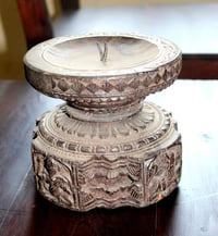 Carved candle holder
