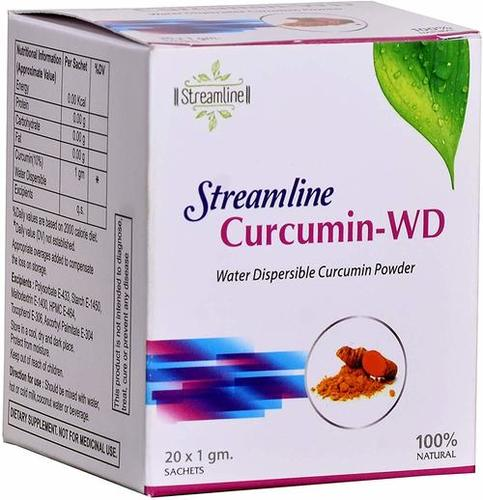 Streamline Natural Water Soluble Curcumin Powder 20x1 Gm Sachets