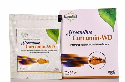 Streamline Curcumin Powder instant Instant Dispersible Cold Water 20 Sachets