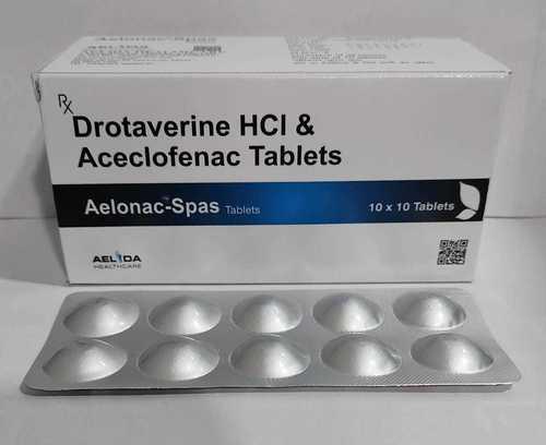 Drotaverine HCI And  Aceclofenac Tablet