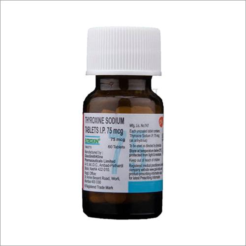 75 Mcg Thyroxine Sodium Tablets Ip