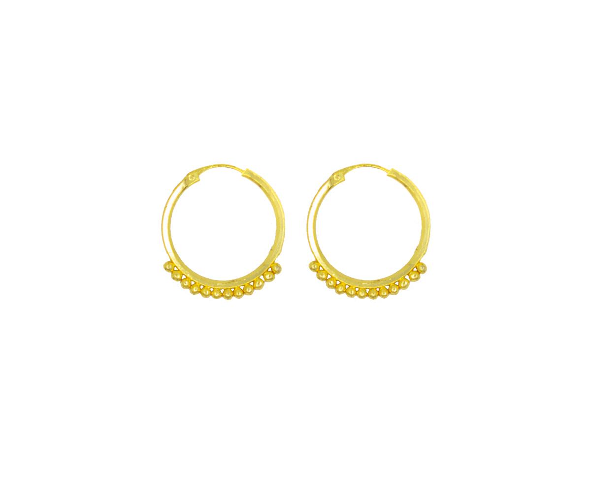 Gold plated Hoops Earrings