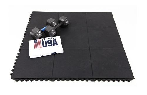 Plain Gym Floor Mat Ultra Heavy Duty (Interlocking & Portable - No Pasting) With Warranty)
