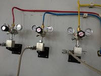 oxygen gas line Connection