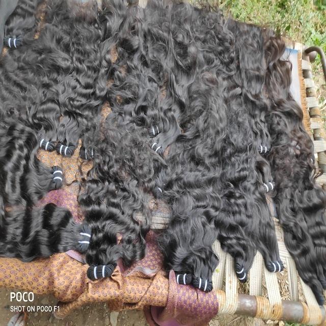 Raw Bulk Human Hair Extensions