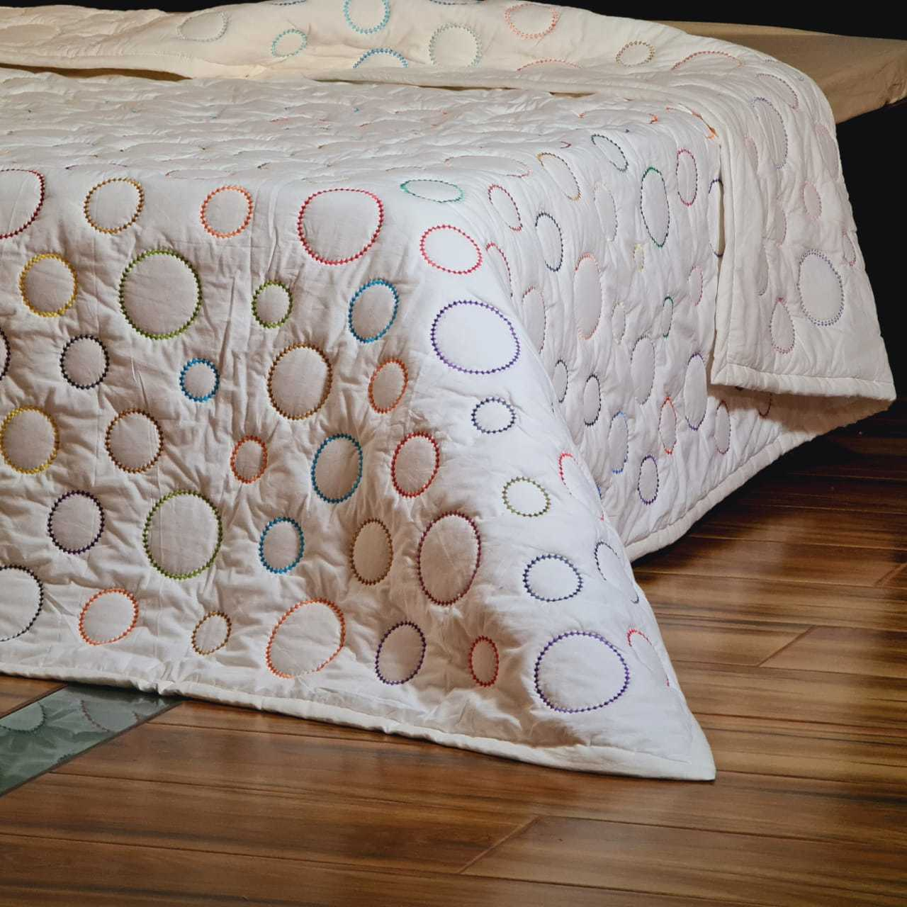 Cotton Embroidered Quilt