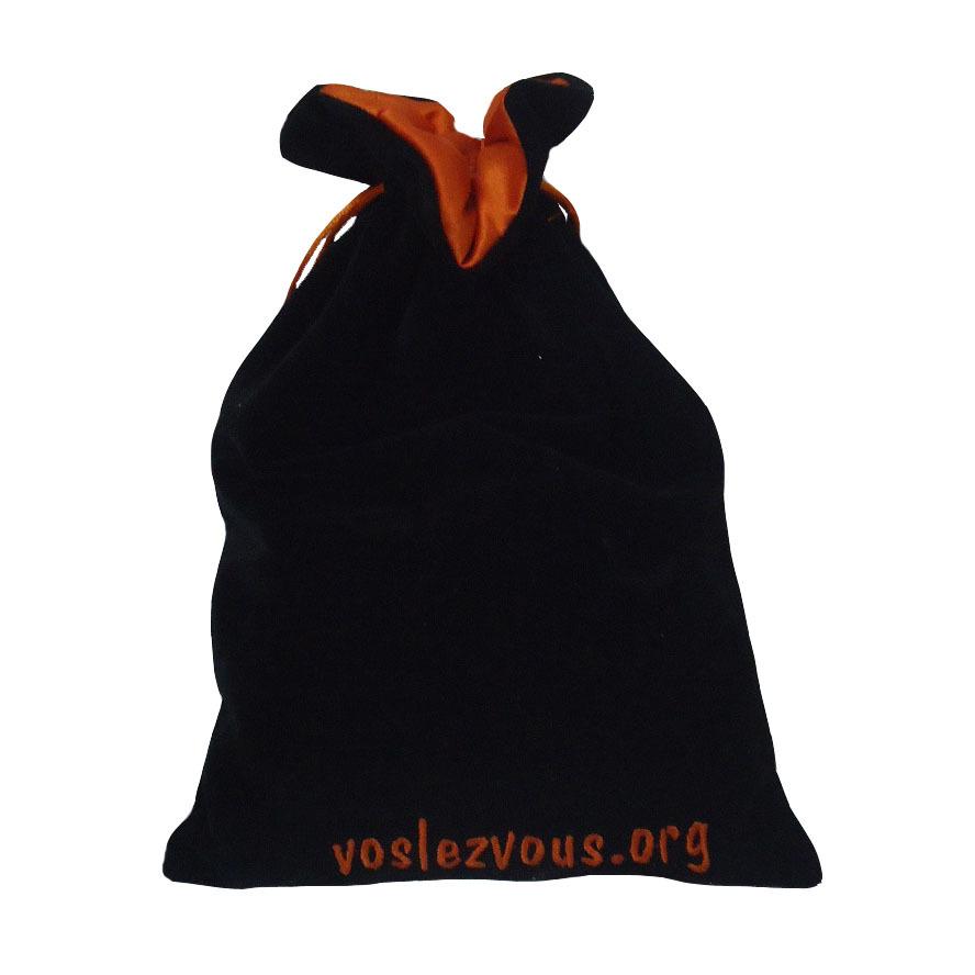 Embroidery Logo Velvet Promotional Drawstring Bag