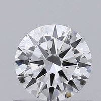 Round Brilliant Cut 0.5ct Lab Grown Diamond CVD D VVS2 IGI Crtified Stone