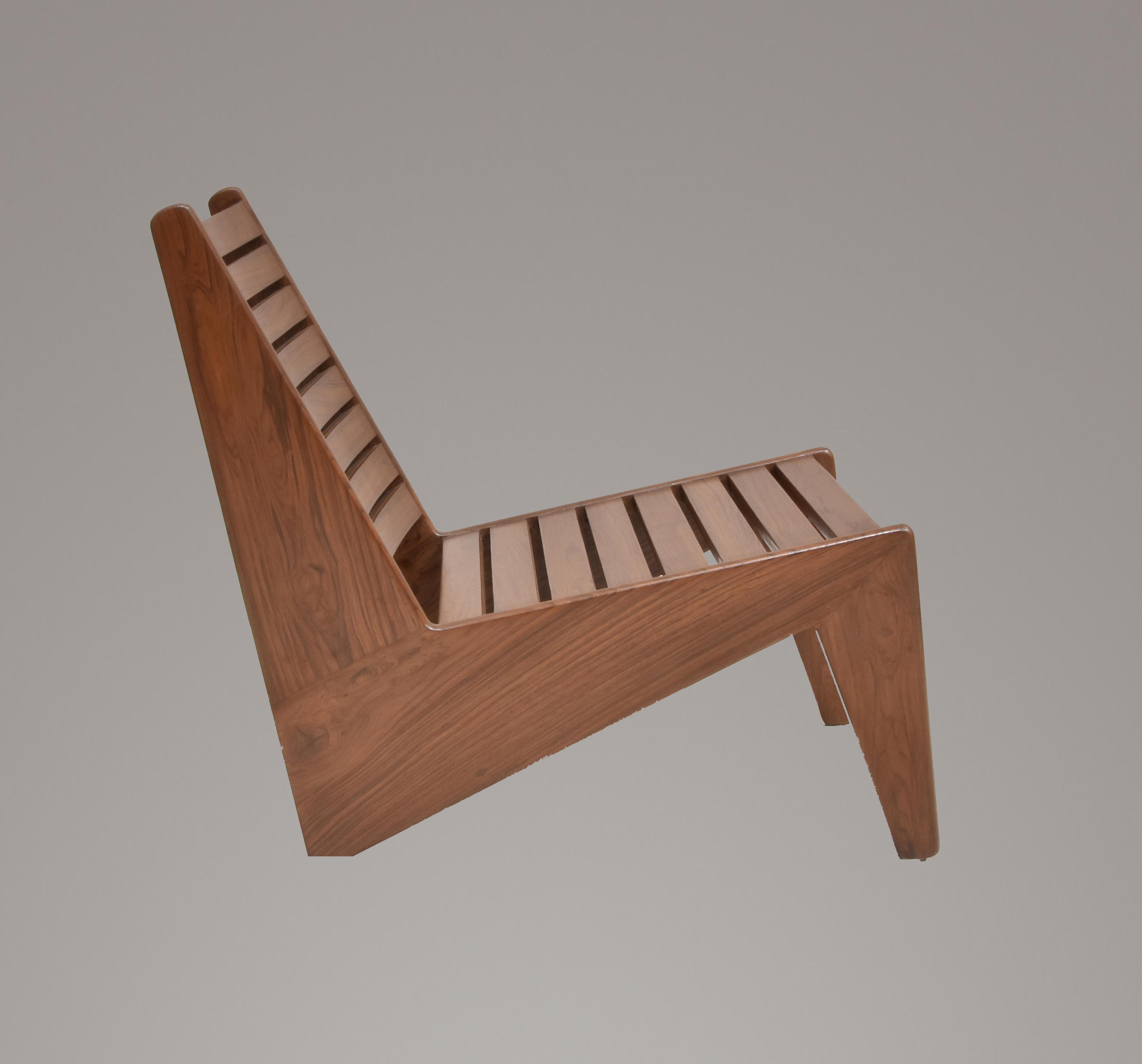 Pierre Jeanneret Outdoor Slatted Kangaroo Chair