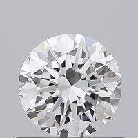 Round Brilliant Cut 0.55ct Lab Grown Diamond CVD D VS2 IGI Crtified Stone