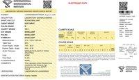 Round Brilliant Cut 0.55ct Lab Grown Diamond CVD D VS2 IGI Crtified Stone
