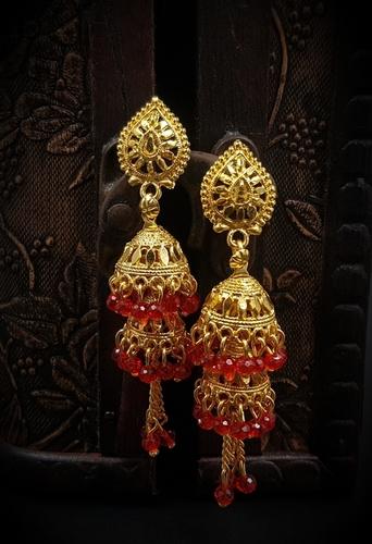 Gold Hanging Jumkhi
