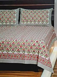 Hand Block Printed Bed Sheet