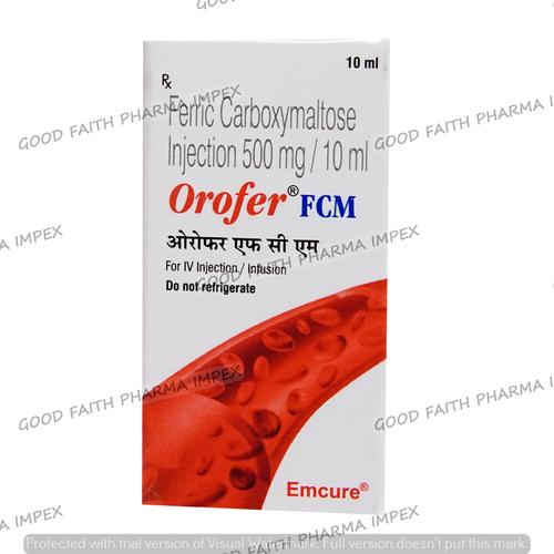 Orofer Fcm 500mg Carboxymaltose Injection