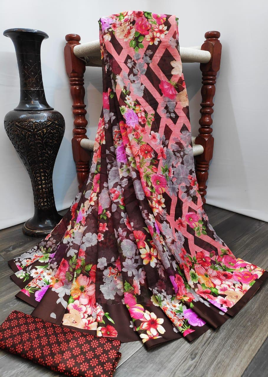 RANI FLOWER SAREE