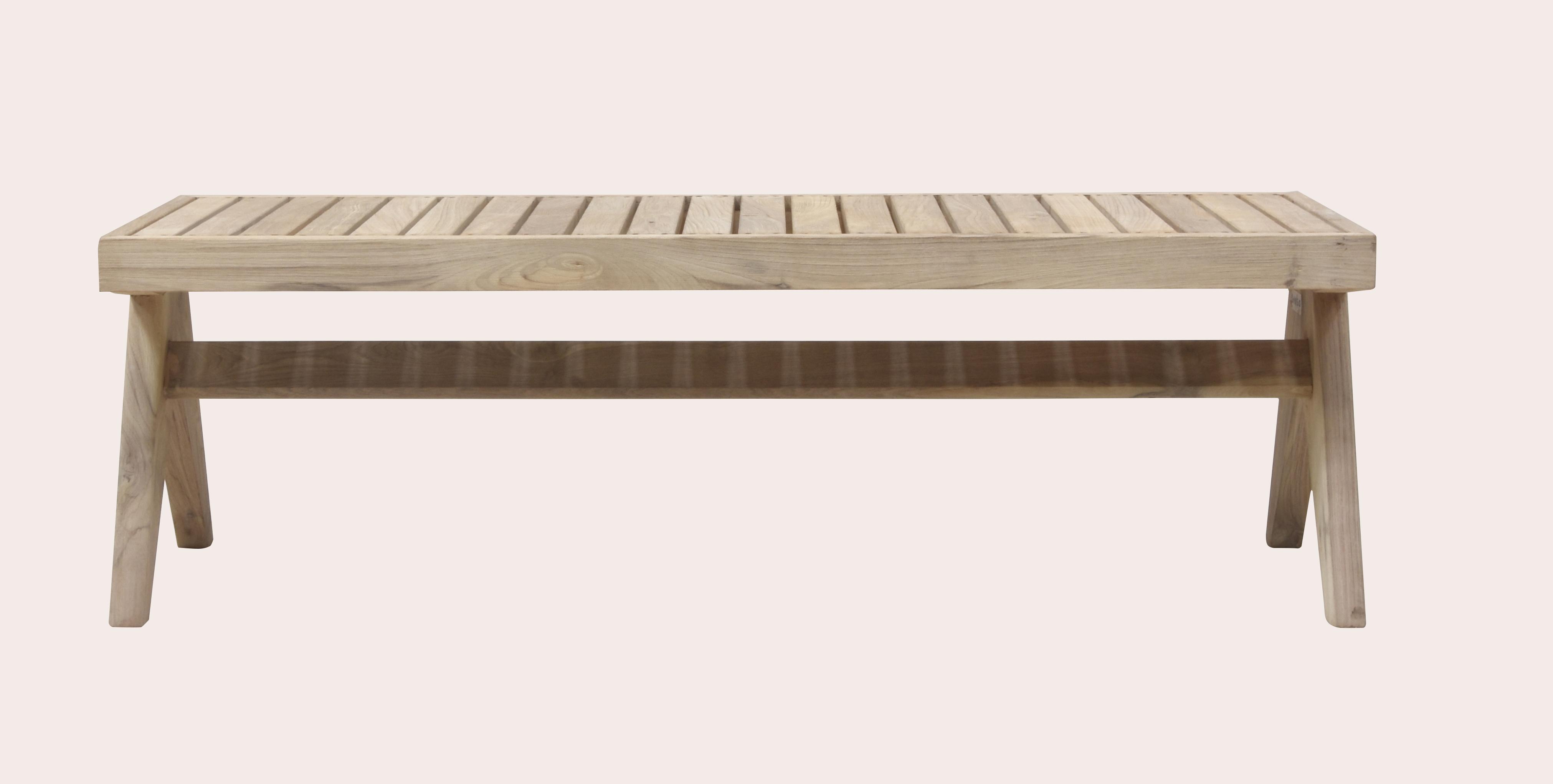 Pierre Jeanneret Outdoor Slatted Bench