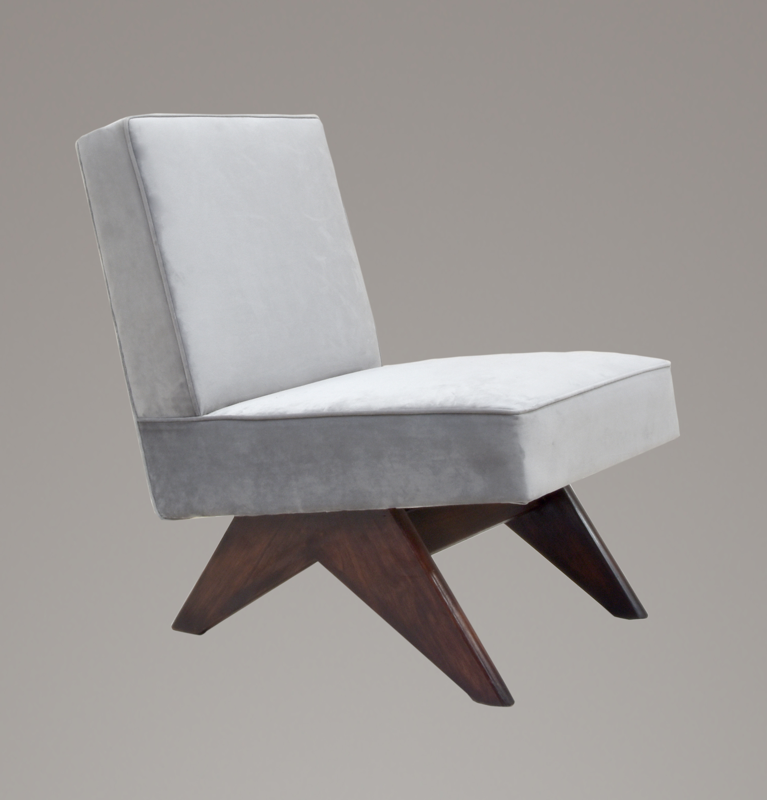 Pierre Jeanneret Upholstered Armless Lounge Chair