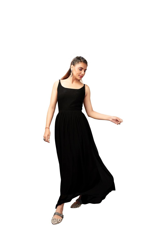 Georgette Ladies Party Wear Western Dress