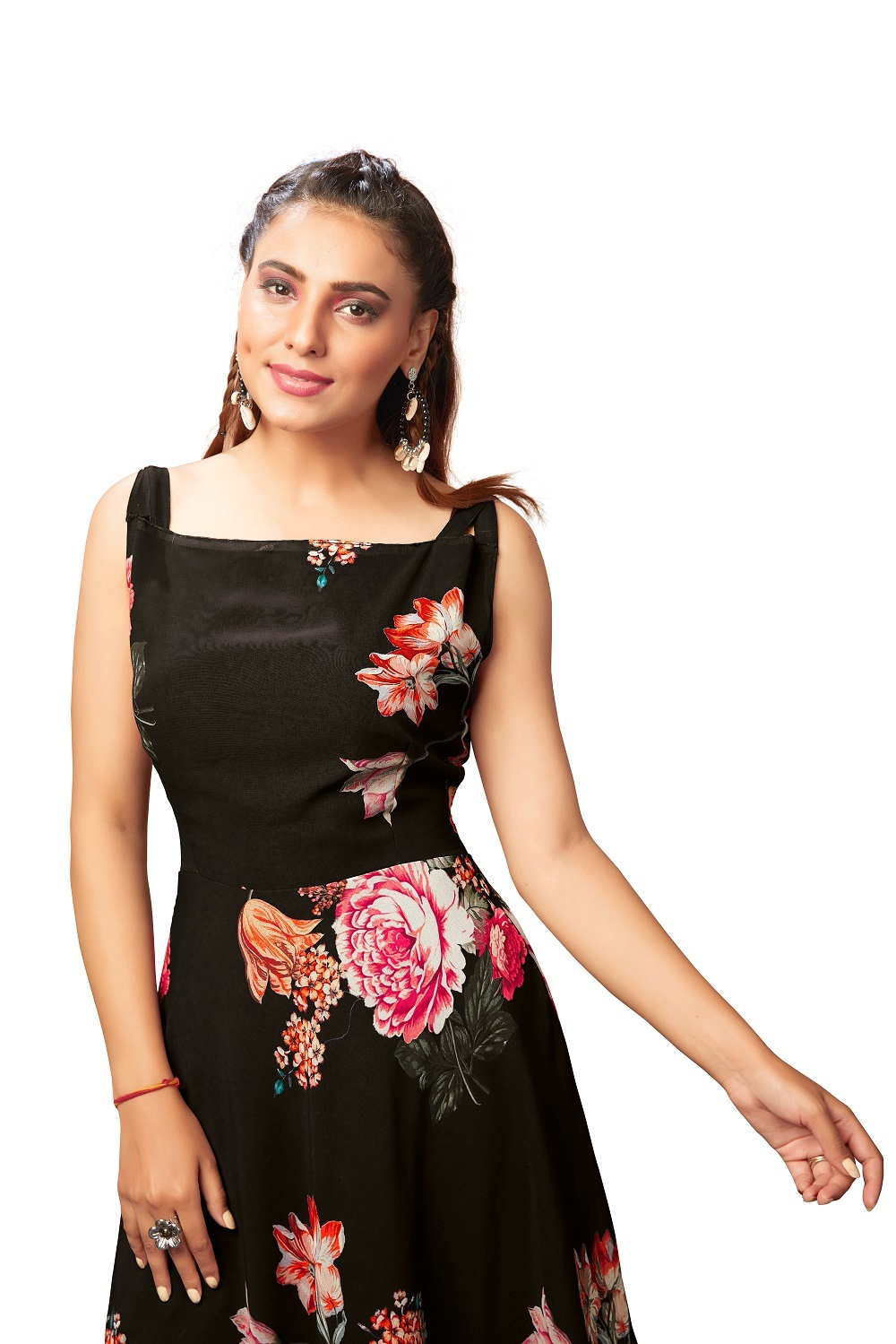 Georgette Ladies Printed Western Dress