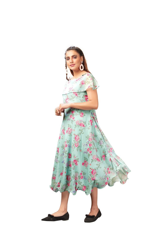 Georgette Party Wear Western Dress