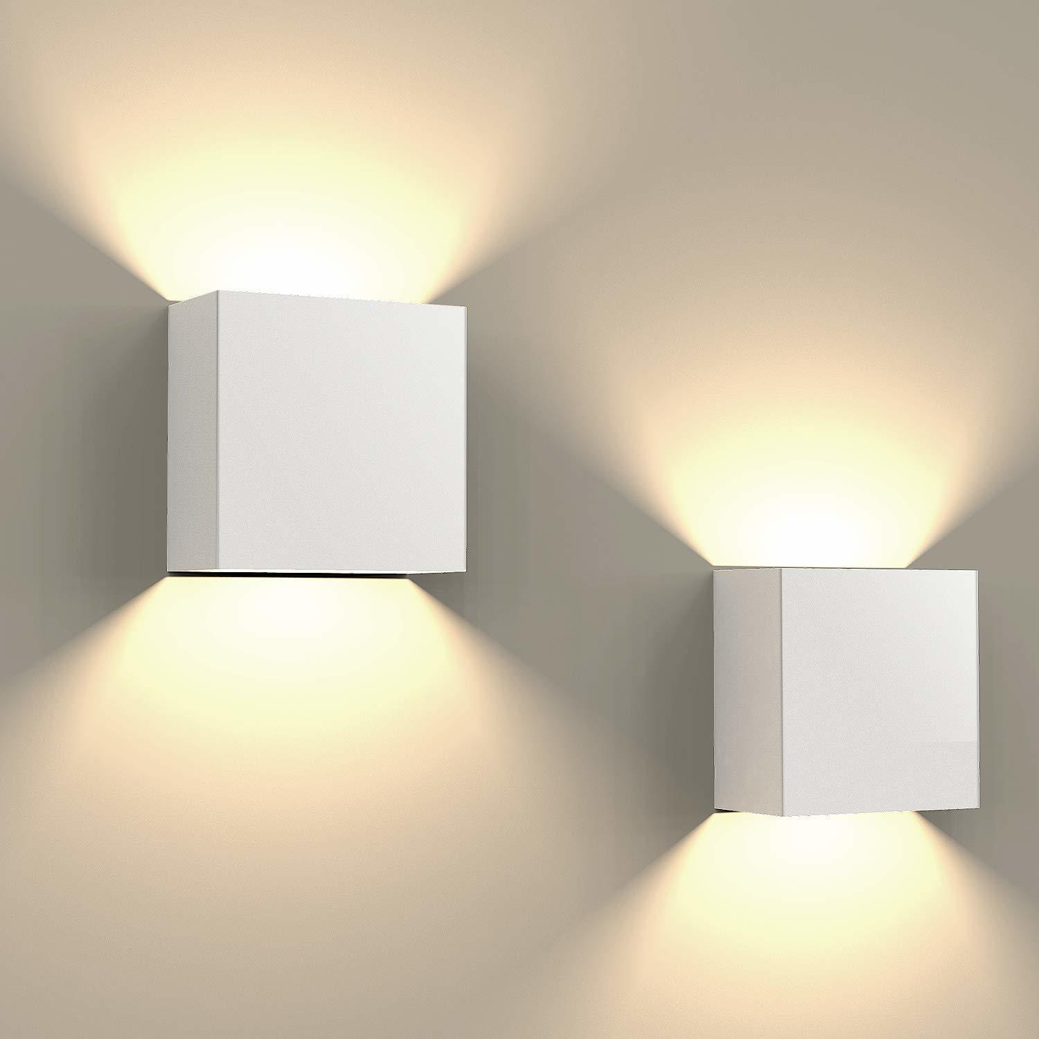 6W Led Combination Up & Down Wall Lamp Indoor (Warm White) (White)