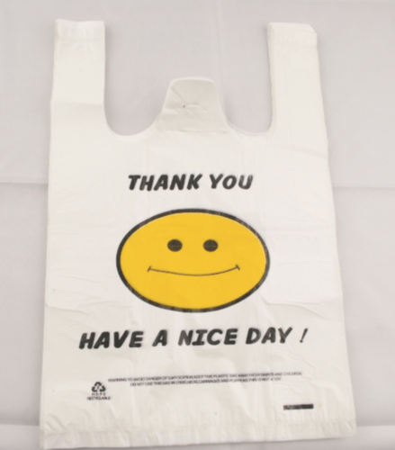 Plastic bag straw