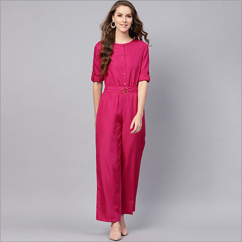 Ladies Plain Jumpsuits